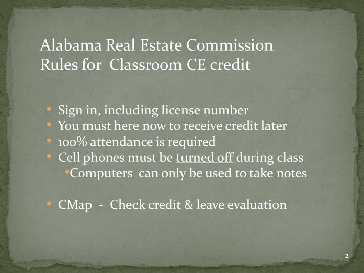 Alabama Real Estate Commission