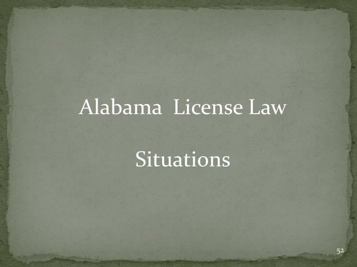 Alabama  License Law