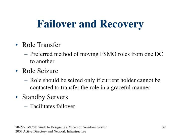 Failover and Recovery
