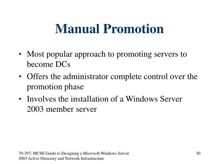 Manual Promotion