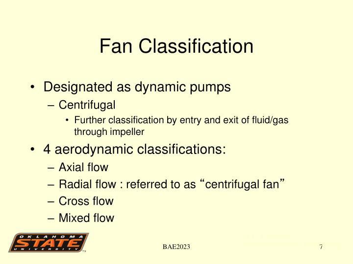 Fan Classification