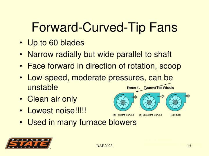 Forward-Curved-Tip Fans