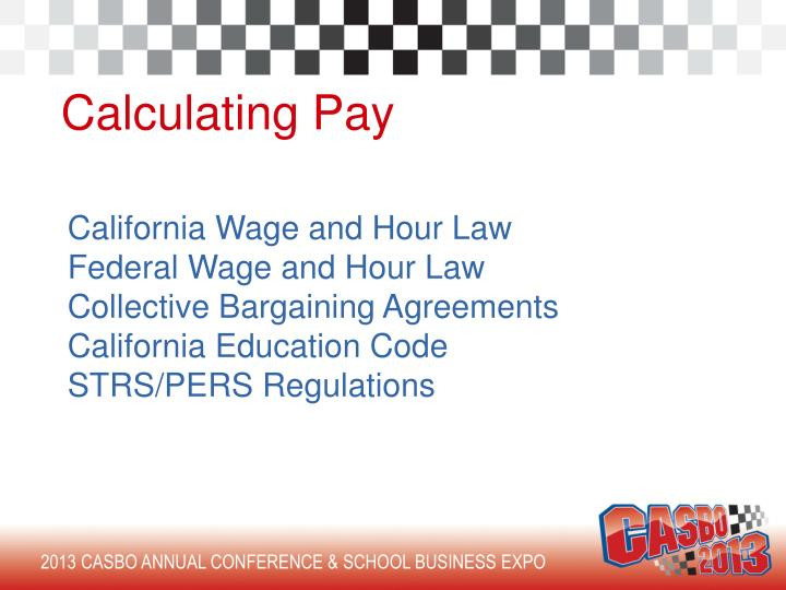 Calculating Pay