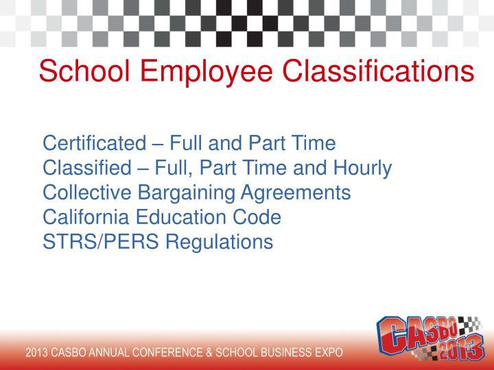 School Employee Classifications