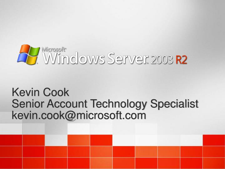kevin cook senior account technology specialist - Account Technology
