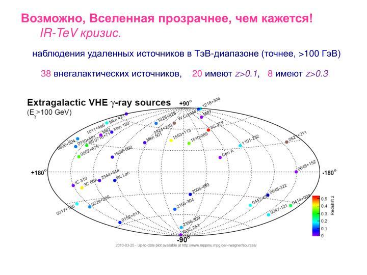 Возможно, Вселенная прозрачнее, чем кажется!