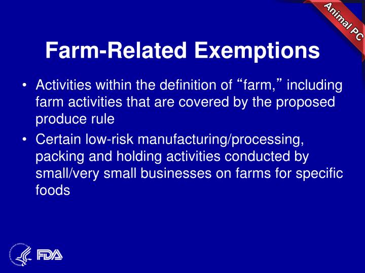 Farm-Related Exemptions