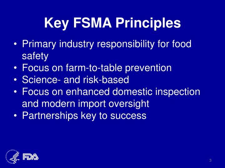 Key fsma principles