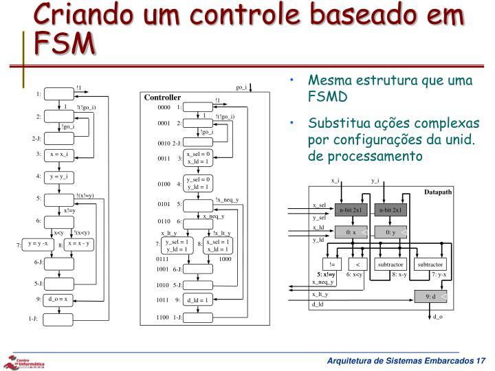 Criando um controle baseado em FSM