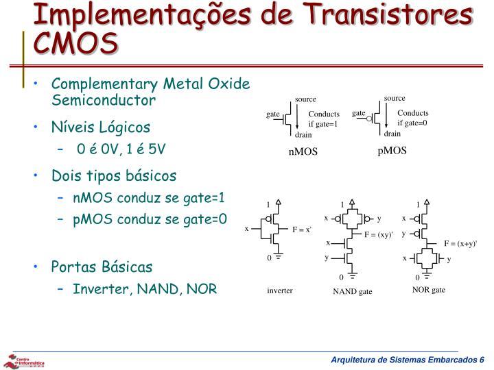 Implementações de Transistores