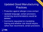 updated good manufacturing practices