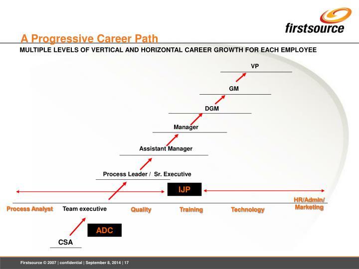A Progressive Career Path