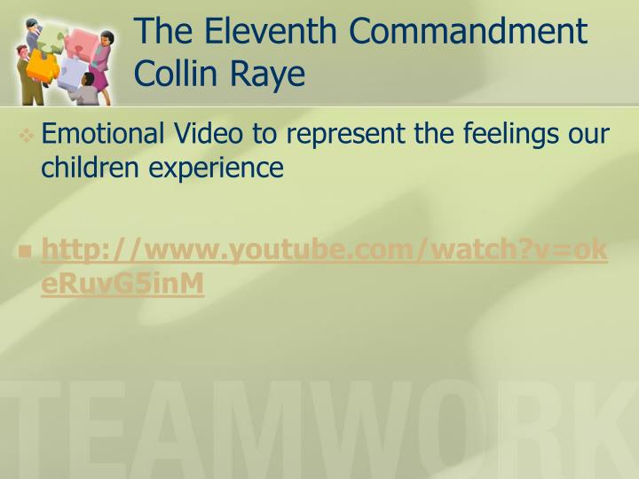 The eleventh commandment collin raye