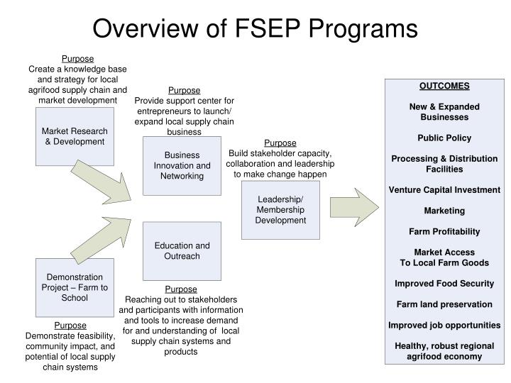Overview of fsep programs