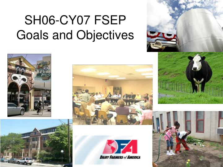 SH06-CY07 FSEP Goals and Objectives