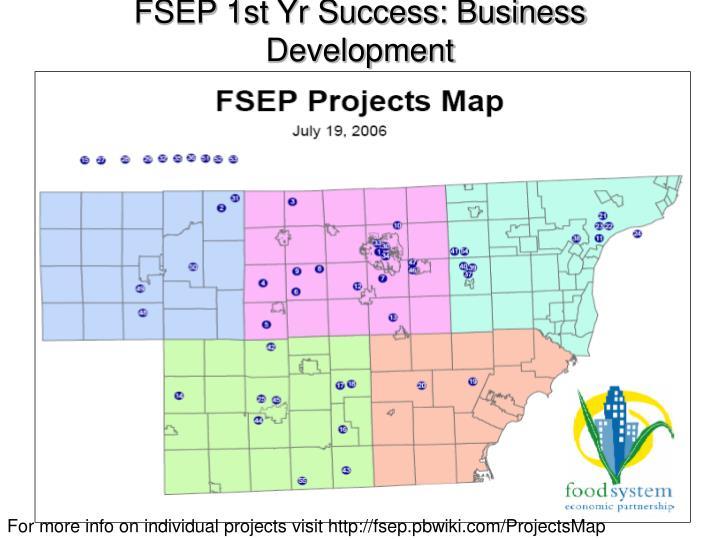 FSEP 1st Yr Success: Business
