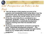 lac perspective on policy in the past