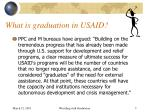 what is graduation in usaid