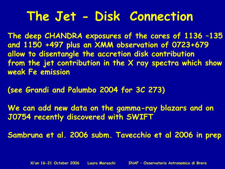 The Jet - Disk