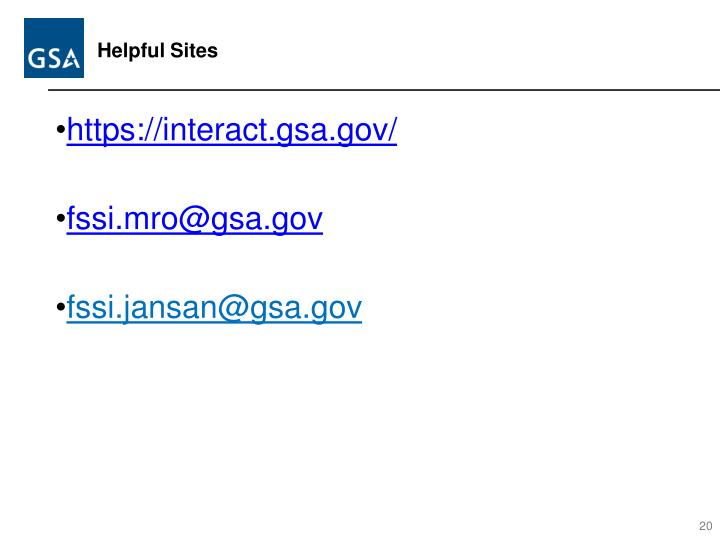 Helpful Sites