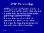wto membership