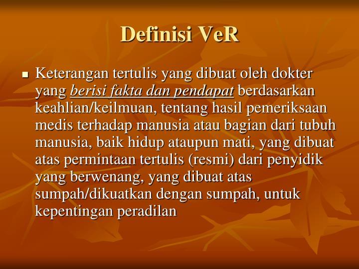 Definisi VeR