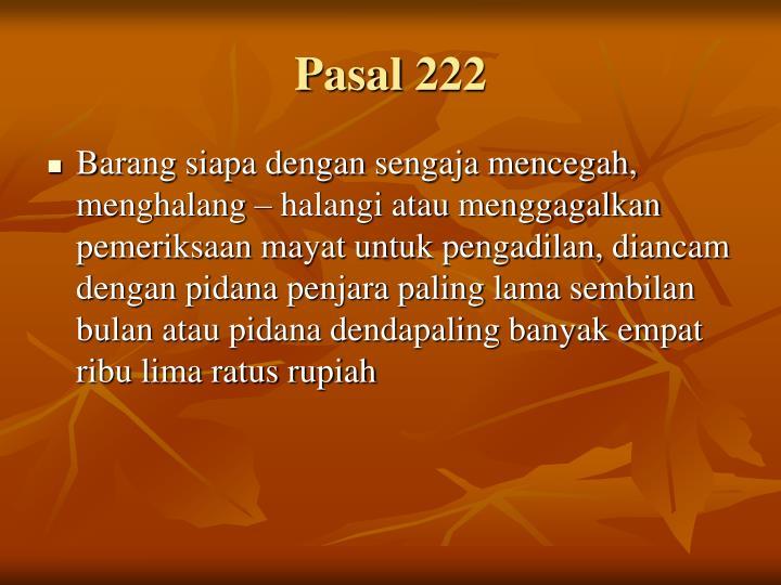 Pasal 222