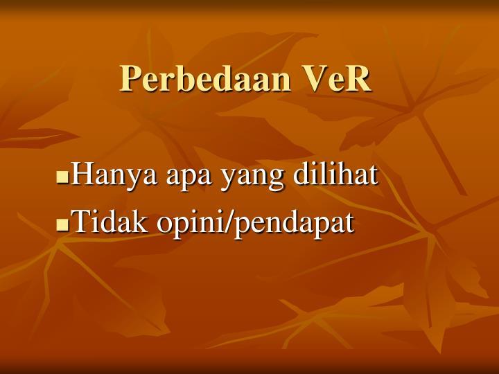 Perbedaan VeR