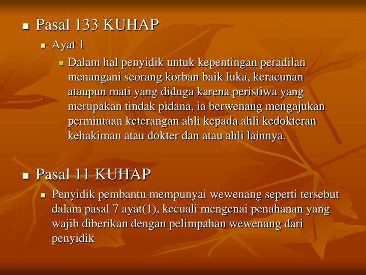 Pasal 133 KUHAP
