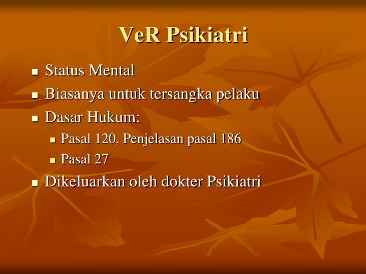 VeR Psikiatri