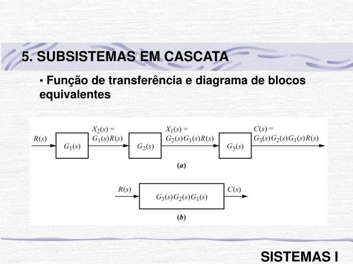 5. SUBSISTEMAS EM CASCATA