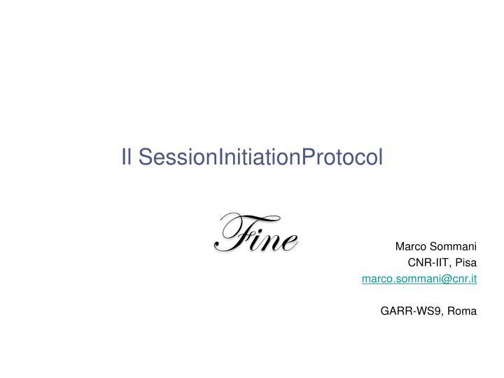 Il SessionInitiationProtocol