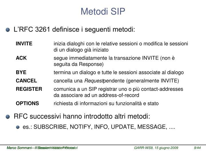 Metodi SIP