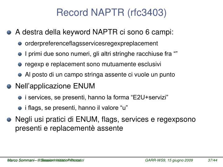 Record NAPTR (rfc3403)