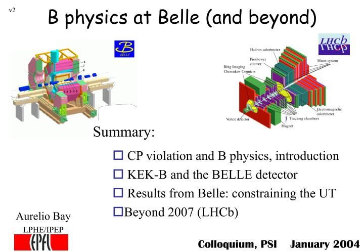 b physics at belle and beyond n.