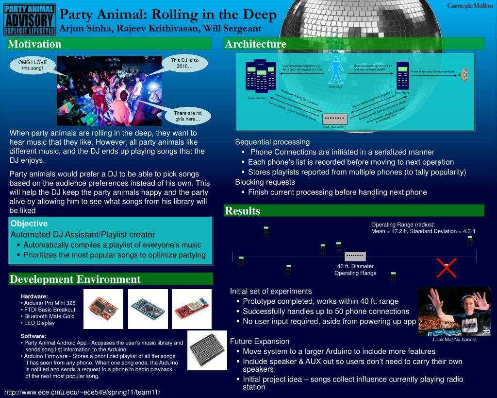 PPT - Party Animal: Rolling in the Deep Arjun Sinha, Rajeev