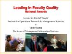 leading in faculty quality national awards