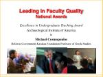 leading in faculty quality national awards1