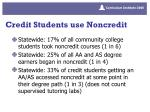 credit students use noncredit