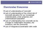curricular concerns