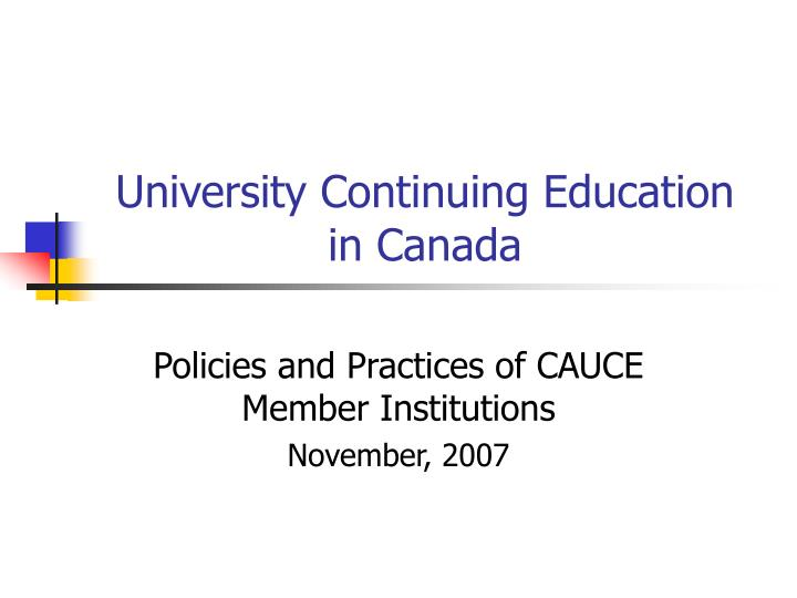 university continuing education in canada n.