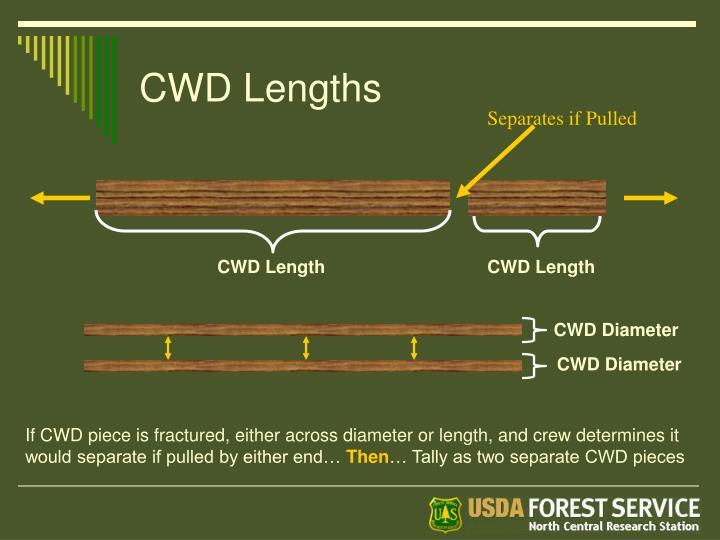 CWD Lengths