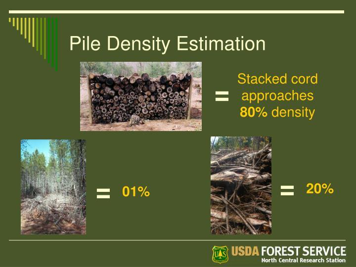 Pile Density Estimation
