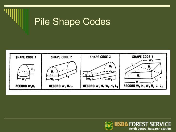 Pile Shape Codes