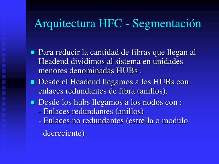 Arquitectura HFC - Segmentación