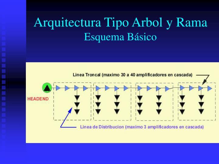 Arquitectura tipo arbol y rama esquema b sico