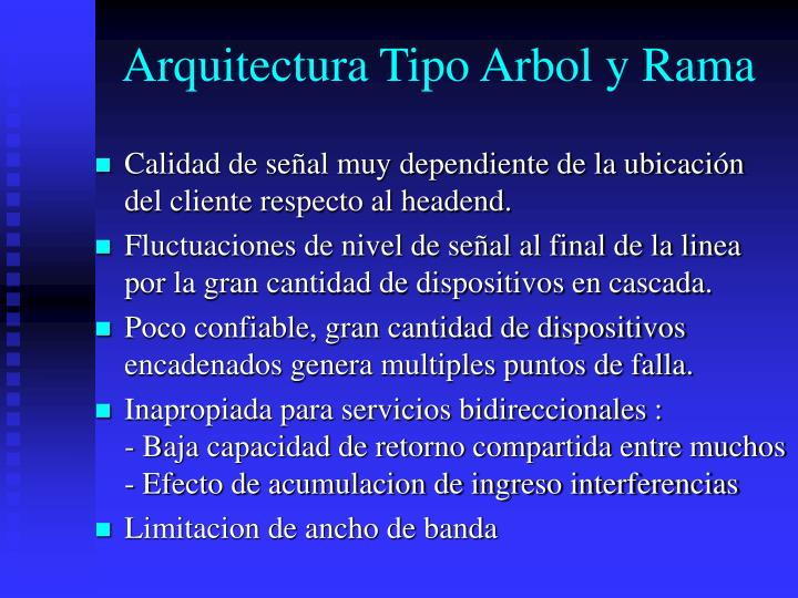 Arquitectura Tipo Arbol y Rama
