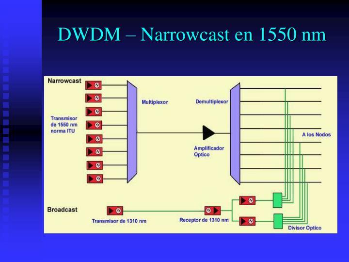 DWDM – Narrowcast en 1550 nm