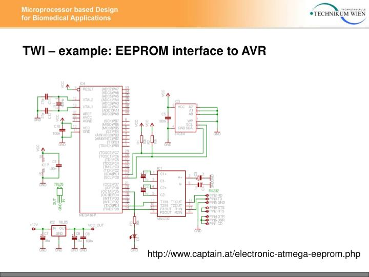 TWI – example: EEPROM interface to AVR