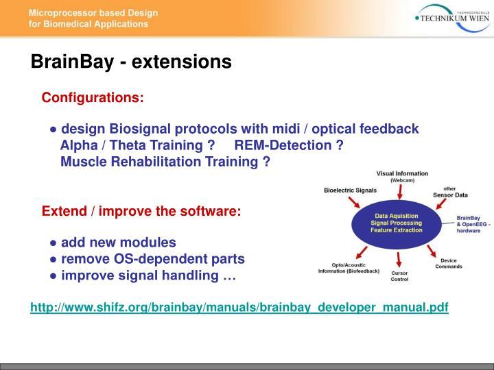BrainBay - extensions